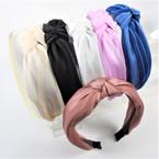 "1.5"" Wide Classy Shear Fabric  Fashion Headbands w/ Knot  6 colors    .56 ea"