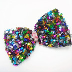 "BEST BUY  6"" Big Sequin Gator Clip Bows w/ Cry. Stones  .54 each"