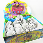 """Large 3.5"""" Fossil Dinosaur Egg Putty 12 per display bx .90 each"""
