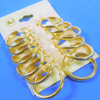 "6 Pair 1"" Gold Tube Hoop Fashion Earrings .54 per set of 6 pair"