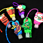 IN STOCK Fruit Scent  Pocket Size Hand Sanitizer Christmas Theme  12 per pk .58 ea