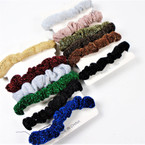 6 Pack Winter Color Hair Scrungi  w/ Sparkles .50 per set