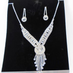 LIMITED SPECIAL Elegant Clear Rhinestone Necklace Set (04) sold by set $ 3.50 ea set