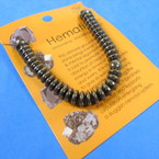Hematite Stretch Bracelet Disc Style  12 per pk  .54 each