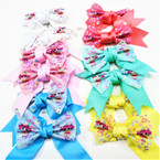 "5"" X 5"" 2 Layer Tail Bows w/ Prints Print Asst COlors .54 ea"