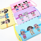 "4"" x 7"" Wrislett Style Kids  Theme Dbl Side Print Zipper Bags .62 ea"