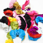 3 Pk Soft Velvet Scrungi Asst Colors Brights  .56 per set