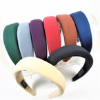 NEW Wide Cushioned Fashion Headbands  Winter Colors .58 ea