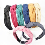 NEW  Crinkled Fabric w/ Knot  Fashion Headbands  Winter  Colors .56 ea