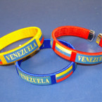 Venezuela Country Flag Cuff Bangle Bracelet .35
