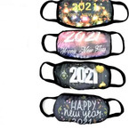 2021 HAPPY NEW YEAR Theme Black Soft Fabric  Reusable Protective Face Mask $ .99 each COMING SOON