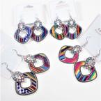 "Hi Fashion 2"" Colorful Dangle Earrings (2016)  .56 per pair"
