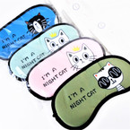 "4"" X 8"" Cat Lover's Theme Sleeping Mask w/ Elastic Back (184)  .60 each"