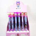 """So Cute 6.5"""" 3 Color Kids Theme Fashion Pens 36 per bx  .58 each"""