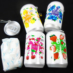 "3.25"" Tall Soda Can Fruit Theme Keychain  w/ Wet Wipe .65 each"