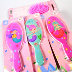 "5"" Mermaid Theme Pocket Hair Brushes 12 per pk .60 ea"