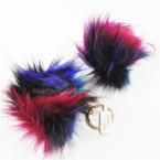 "3"" Multi Color Faux Fur Fashion Keychains  .56 ea"