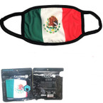 Mexico Flag Soft Fabric  DBL Sided Reusable Protective Face Mask  12 per pk $ .65  ea