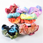 2 Pack Mixed Tye Dye  Print  Hair Twisters Nice Quality Velvet Feel  .54 per set