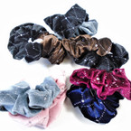 2 Pack Mixed Color  Sparkle w/ Stone  Hair Twisters Nice Quality Velvet Feel  .54 per set