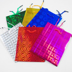 """Hologram Gift Bags Small Size Asst Colors 4.5"""" X 5.5"""" .25 ea"""