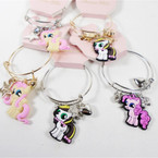 Pony Theme Kids Wire Bangle w/ Charms  .56 ea