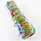 Rainbow Cord Leather Bracelet w/ Gold Zodiac  .54 ea