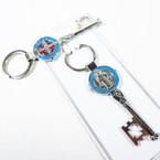 "3"" San Benito  Silver Metal Keychain  Dbl Side  .56 each"