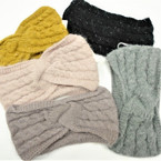 """Upgraded Quality 5"""" Wide Stretch Knit Winter Headbands (1117)   $ 2.50  ea"""