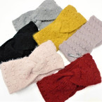 """Upgraded Quality 4"""" Wide Stretch Knit Winter Headbands  (1116)   $ 2.25  ea"""