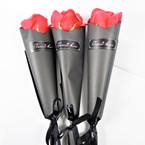 "12"" Black Bouquet  Packed Faux Red Rose  36 per pk  .60 each"