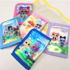 Metallic Kids Print Tri Fold Wallets Asst Colors .60 each