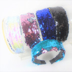 "Popular 2"" Wide Sequin Fashion Headbands  .56 ea"