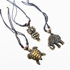 Leather Cord Necklace w/ 3 styles pendants  .54 each