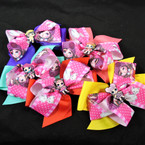 "5.5"" 2 Layer Cutie Girl  Gator Clip Bows .54 each"