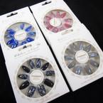NEW Sparkle  Glitter   12 Pk Pre Glued Fashion Nails (60) .54 each set