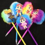 "8"" Novelty Faux Fur Kids Fashion Ball Point Pens   .60 each"