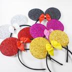 Sparkle Metallic Mouse Ear Fashion Headbands  .56 ea