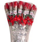 "14"" ALL Red Rose w/Bear 36 pc (BOX DISPLAY) .43 each"