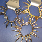Spikey Style Stretch Bracelet w/ Fireball Bead 5 colors  NOW .16 EA