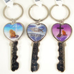 Key Style I Love Jesus Engraved Pictured Keychain .54 ea