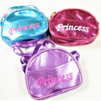 Metallic Color Princess Long Strap Purse w/ Zipper   .667 each