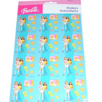 Licensed Barbie Stickers 16 sheets per pk  .50 per sheet