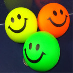 "2"" Happy Face Relax Ball Neon Colors 12 per pack .42 EACH"
