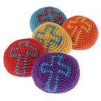 "2"" Religious Cross Crochet Kickball 12 per bag .50 ea"