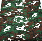 Bandana Camoflauge DBL Side Printed 100% Cotton w/ White  .56 ea