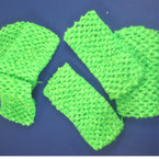 "3 Pack 2.5"" Wide Stretch Crochet Headwraps ALL Lime Green"