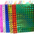 "Hologram Gift Bag Large Size 10"" X 13"" Asst colors .50"