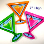 "7"" Martini Melamine Plate Asst Colors 8 per bx ON SALE .35 ea"
