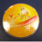8 Pack Jesus Christ Superstar Buttons 24-8 pks per bag .35 ea
